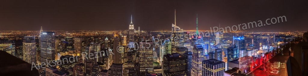 manhattan night panorama